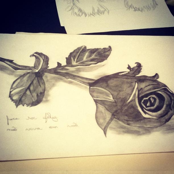 Rosa Negra Desenho Poesiafaclube Com